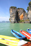 Seascape Phangnga bay Thailand Royalty Free Stock Photography