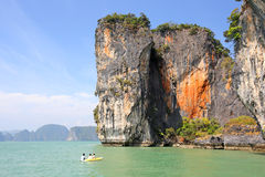 Seascape Phangnga bay Thailand Royalty Free Stock Image