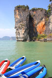 Seascape Phangnga bay Thailand Royalty Free Stock Photo