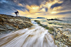 Seascape photographer on phuket beach Stock Images