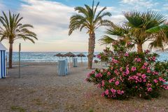 Seascape plaże Andalusia fotografia royalty free