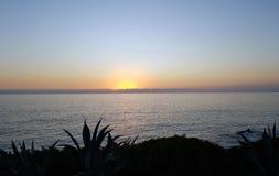 Seascape podczas zmierzchu Piękny naturalny seascape w summe Zdjęcia Royalty Free