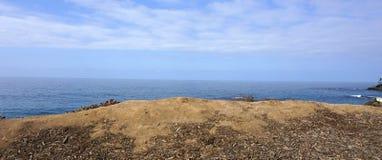Seascape podczas zmierzchu Piękny naturalny seascape w summe Zdjęcie Stock