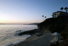 Seascape podczas zmierzchu Piękny naturalny seascape w summe Zdjęcie Royalty Free