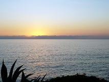 Seascape podczas zmierzchu Piękny naturalny seascape w summe Fotografia Royalty Free