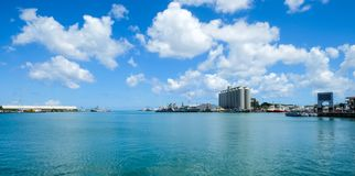 Seascape Port Louis schronienie, Mauritius zdjęcie royalty free