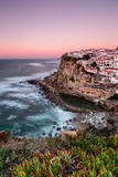 Seascape of the Portuguese town. Royalty Free Stock Photo