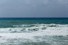 Seascape with powerful waves Royalty Free Stock Image
