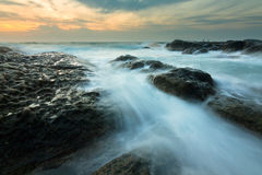 Seascape przy poradą Borneo Obraz Stock