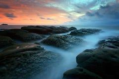 Seascape przy poradą Borneo Obrazy Stock