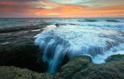 Seascape przy poradą Borneo, Sabah, Malezja Zdjęcie Royalty Free