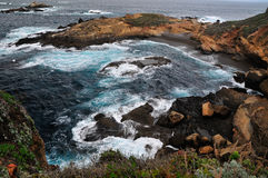 Seascape przy punktem Lobos Kalifornia Obrazy Stock