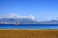 A seascape of Puerto de Mazarron in Murcia , Spain stock photos