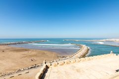 Seascape in Rabat, Morocco. View of a seascape in Rabat, Morocco Stock Photos