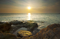 Seascape in rayong Royalty Free Stock Photography