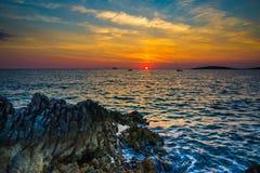 Seascape Razanj Хорватии Стоковое Фото