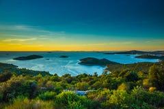 Seascape Razanj Хорватии Стоковая Фотография RF