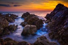 Seascape Razanj Хорватии Стоковое Изображение