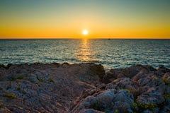 Seascape Razanj Хорватии Стоковые Фото