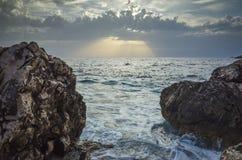 Seascape Razanj Хорватия Стоковое фото RF