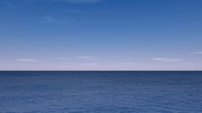 Seascape render. Beautiful blue background Stock Photography