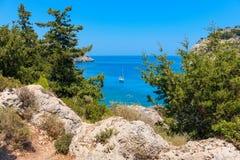 Seascape. Rhodes, Greece Stock Photography