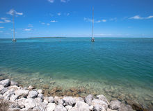 Seascape by the road to Key West Royalty Free Stock Images