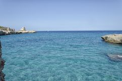Seascape Roca Vecchia Στοκ Φωτογραφία