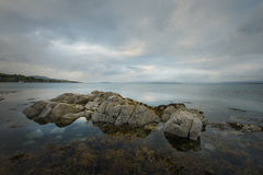 Seascape with rocks in Broadford Royalty Free Stock Photography