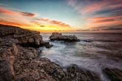 Seascape with rocks Royalty Free Stock Photos
