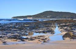 Split Rocks at the Beach stock photography