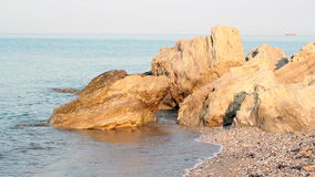 Seascape with rocks stock video