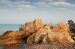 Seascape with rocks Royalty Free Stock Image