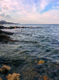 Seascape. With rocks and waves Royalty Free Stock Photos