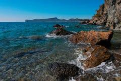 Seascape with a rocky beach Royalty Free Stock Photos