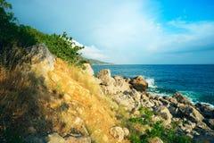 Seascape rocky coast of the Black sea Stock Photos