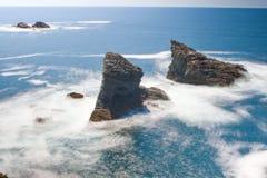 Seascape sławny miejsce - Aiguilles De port Fotografia Stock