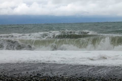 Seascape. it`s a nasty day. Stock Photo
