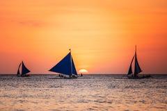 Seascape with a sailboat Stock Photos