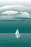 Seascape with sailboat Royalty Free Stock Image