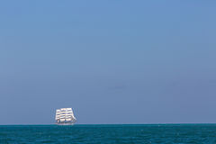 Seascape with sailing ship Stock Image