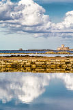 Seascape from the salt mines of Nubia, Trapani (Italy) Royalty Free Stock Image