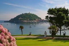 Seascape San Sebastian, bask, Hiszpania zdjęcia stock
