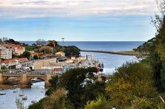 Seascape in San Vicente de la Barquera city Royalty Free Stock Images