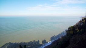 Seascape scenery with a seashore line. On a sunny day stock video