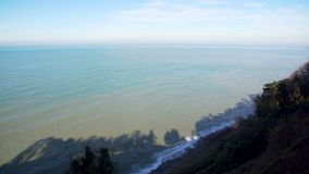 Seascape scenery with a seashore line. On a sunny day stock footage