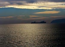 Seascape scenic sunset Stock Image