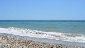 Seascape sceniczny z morza śródziemnomorskiego, Hiszpania zdjęcie wideo