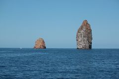 Seascape. Sea ​​landscape blue Aeolian Islands in Sicily Stock Photography