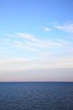 Seascape with sea horizon Stock Image